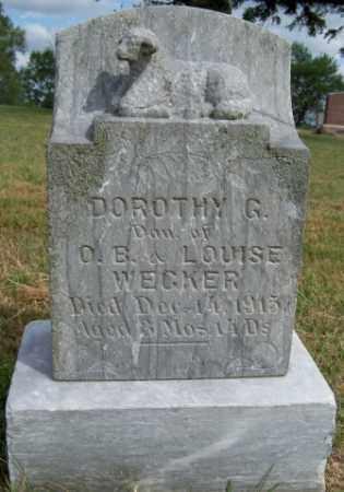 WECKER, DOROTHY G - Pierce County, Nebraska | DOROTHY G WECKER - Nebraska Gravestone Photos