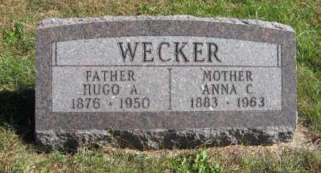 WECKER, ANNA C. - Pierce County, Nebraska | ANNA C. WECKER - Nebraska Gravestone Photos