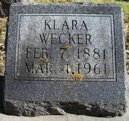 WECKER, KLARA - Pierce County, Nebraska | KLARA WECKER - Nebraska Gravestone Photos