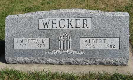 WECKER, LAURETTA M. - Pierce County, Nebraska | LAURETTA M. WECKER - Nebraska Gravestone Photos
