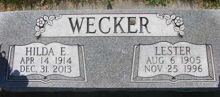WECKER, HILDA E. - Pierce County, Nebraska | HILDA E. WECKER - Nebraska Gravestone Photos