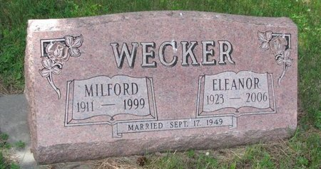 WECKER, ELEANOR - Pierce County, Nebraska | ELEANOR WECKER - Nebraska Gravestone Photos