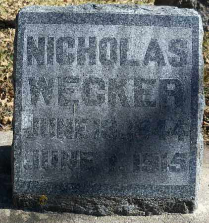WECKER, NICHOLAS - Pierce County, Nebraska | NICHOLAS WECKER - Nebraska Gravestone Photos