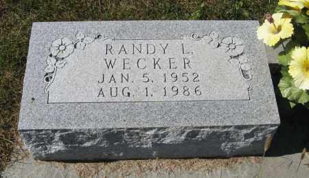 WECKER, RANDY L. - Pierce County, Nebraska | RANDY L. WECKER - Nebraska Gravestone Photos