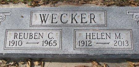 WECKER, REUBEN C. - Pierce County, Nebraska | REUBEN C. WECKER - Nebraska Gravestone Photos