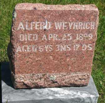 WEYHRICH, ALFERD - Pierce County, Nebraska   ALFERD WEYHRICH - Nebraska Gravestone Photos