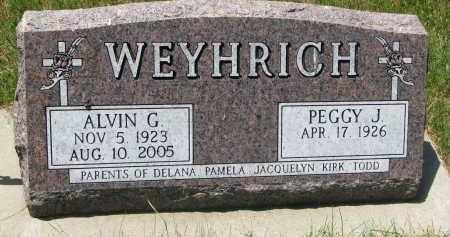 WEYHRICH, PEGGY J. - Pierce County, Nebraska | PEGGY J. WEYHRICH - Nebraska Gravestone Photos