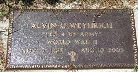 WEYHRICH, ALVIN G. (WW II) - Pierce County, Nebraska | ALVIN G. (WW II) WEYHRICH - Nebraska Gravestone Photos