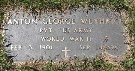 WEYHRICH, ANTON GEORGE (WW II) - Pierce County, Nebraska | ANTON GEORGE (WW II) WEYHRICH - Nebraska Gravestone Photos