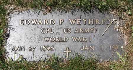 WEYHRICH, EDWARD P. (WW I) - Pierce County, Nebraska   EDWARD P. (WW I) WEYHRICH - Nebraska Gravestone Photos