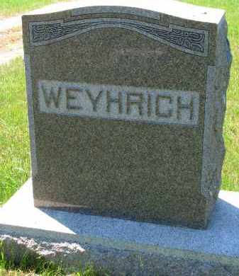WEYHRICH, FAMILY STONE - Pierce County, Nebraska | FAMILY STONE WEYHRICH - Nebraska Gravestone Photos