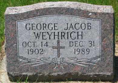 WEYHRICH, GEORGE JACOB - Pierce County, Nebraska   GEORGE JACOB WEYHRICH - Nebraska Gravestone Photos