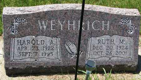 WEYHRICH, RUTH M. - Pierce County, Nebraska | RUTH M. WEYHRICH - Nebraska Gravestone Photos