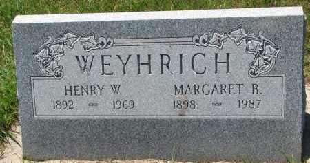 WEYHRICH, HENRY W. - Pierce County, Nebraska | HENRY W. WEYHRICH - Nebraska Gravestone Photos