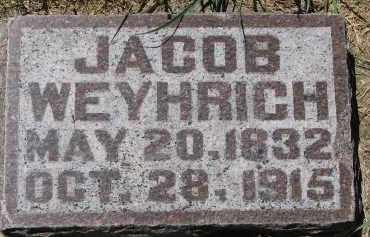 WEYHRICH, JACOB - Pierce County, Nebraska | JACOB WEYHRICH - Nebraska Gravestone Photos
