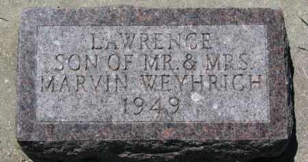 WEYHRICH, LAWRENCE - Pierce County, Nebraska   LAWRENCE WEYHRICH - Nebraska Gravestone Photos