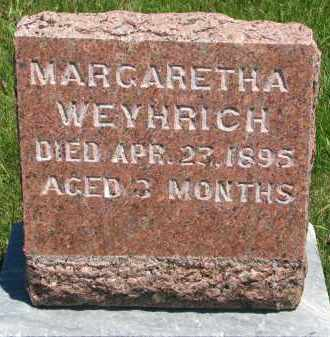 WEYHRICH, MARGARETHA - Pierce County, Nebraska | MARGARETHA WEYHRICH - Nebraska Gravestone Photos