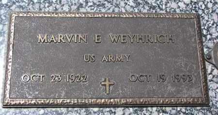 WEYHRICH, MARVIN E. - Pierce County, Nebraska | MARVIN E. WEYHRICH - Nebraska Gravestone Photos