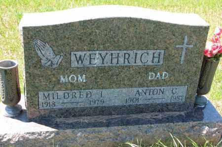 WEYHRICH, MILDRED I. - Pierce County, Nebraska | MILDRED I. WEYHRICH - Nebraska Gravestone Photos