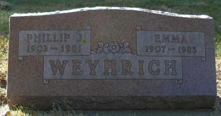 WEYHRICH, EMMA - Pierce County, Nebraska | EMMA WEYHRICH - Nebraska Gravestone Photos
