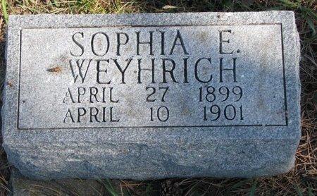 WEYHRICH, SOPHIA E. - Pierce County, Nebraska | SOPHIA E. WEYHRICH - Nebraska Gravestone Photos