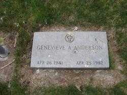 ANDERSON, GENEVIEVE ANN - Platte County, Nebraska | GENEVIEVE ANN ANDERSON - Nebraska Gravestone Photos