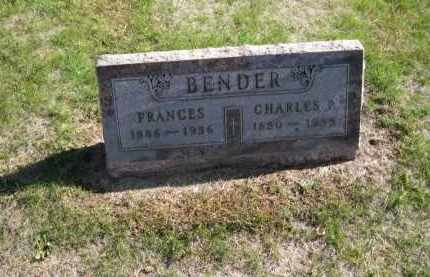 HITTNER BENDER, FRANCES - Platte County, Nebraska | FRANCES HITTNER BENDER - Nebraska Gravestone Photos