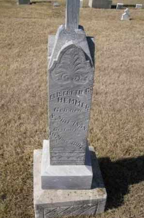 HEMMER, ELIZEBETH - Platte County, Nebraska   ELIZEBETH HEMMER - Nebraska Gravestone Photos
