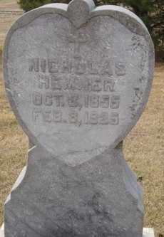 HEMMER, NICHOLAS - Platte County, Nebraska | NICHOLAS HEMMER - Nebraska Gravestone Photos