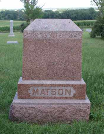 MATSON, FAMILY - Platte County, Nebraska | FAMILY MATSON - Nebraska Gravestone Photos