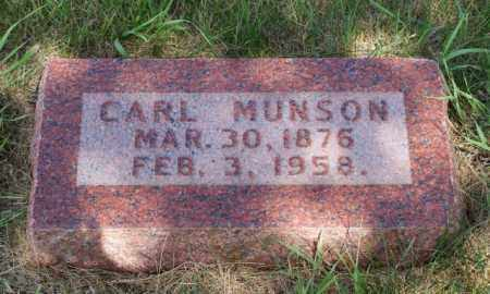 MUNSON, CARL - Platte County, Nebraska | CARL MUNSON - Nebraska Gravestone Photos