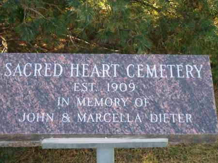 *SACRED HEART CEMETERY, SIGN AT GATE - Platte County, Nebraska | SIGN AT GATE *SACRED HEART CEMETERY - Nebraska Gravestone Photos