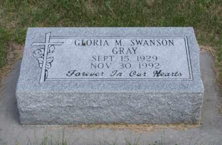 GRAY SWANSON, GLORIA M. - Platte County, Nebraska | GLORIA M. GRAY SWANSON - Nebraska Gravestone Photos