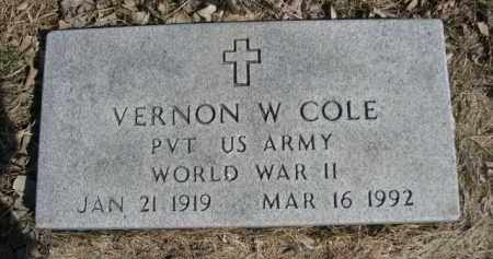 COLE, VERNON W. - Polk County, Nebraska | VERNON W. COLE - Nebraska Gravestone Photos