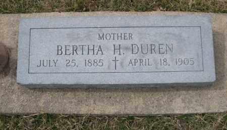 DUREN, BERTHA - Polk County, Nebraska | BERTHA DUREN - Nebraska Gravestone Photos