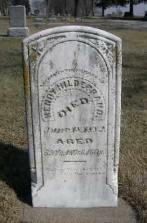 HILDERBRAND, HENRY - Polk County, Nebraska | HENRY HILDERBRAND - Nebraska Gravestone Photos