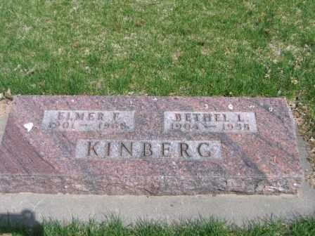 KINBERG, ELMER F. - Polk County, Nebraska | ELMER F. KINBERG - Nebraska Gravestone Photos