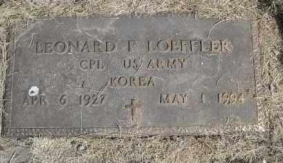 LOEFFLER, LEONARD F. - Polk County, Nebraska   LEONARD F. LOEFFLER - Nebraska Gravestone Photos