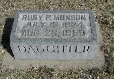 MONSON, RUBY P. - Polk County, Nebraska | RUBY P. MONSON - Nebraska Gravestone Photos