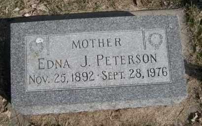PETERSON, EDNA J. - Polk County, Nebraska | EDNA J. PETERSON - Nebraska Gravestone Photos