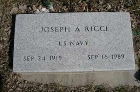 RICCI, JOSEPH A. - Polk County, Nebraska   JOSEPH A. RICCI - Nebraska Gravestone Photos