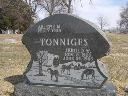 TONNIGES, JEROLD W. - Polk County, Nebraska | JEROLD W. TONNIGES - Nebraska Gravestone Photos