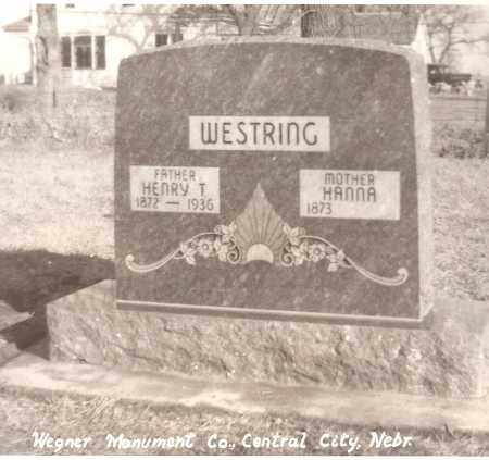 HOLM WESTRING, HENRY AND HANNA - Polk County, Nebraska | HENRY AND HANNA HOLM WESTRING - Nebraska Gravestone Photos
