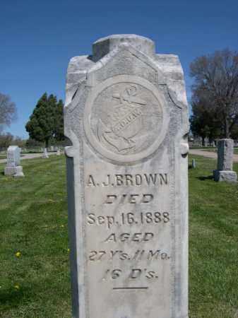 BROWN, A.J. - Red Willow County, Nebraska | A.J. BROWN - Nebraska Gravestone Photos