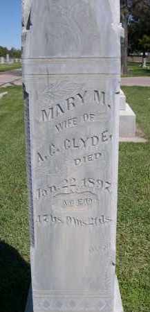 CLYDE, MARY M. - Red Willow County, Nebraska   MARY M. CLYDE - Nebraska Gravestone Photos