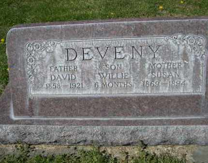 DEVENY, WILLIE - Red Willow County, Nebraska | WILLIE DEVENY - Nebraska Gravestone Photos