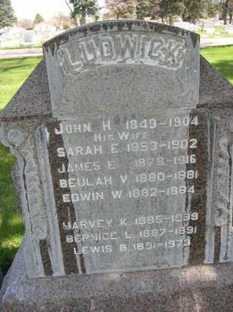 LUDWICK, HARVEY K. - Red Willow County, Nebraska | HARVEY K. LUDWICK - Nebraska Gravestone Photos