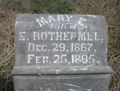 ROTHERMEL, MARY E. - Red Willow County, Nebraska   MARY E. ROTHERMEL - Nebraska Gravestone Photos