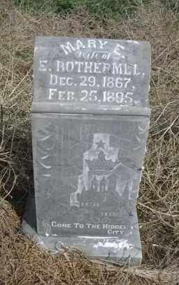 ROTHERMEL, MARY E. - Red Willow County, Nebraska | MARY E. ROTHERMEL - Nebraska Gravestone Photos