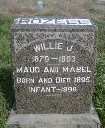 ROZELL, MAUD - Red Willow County, Nebraska   MAUD ROZELL - Nebraska Gravestone Photos